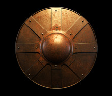 Ancient Metal Round Shield Wit...
