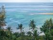 Sandy spit on Chaloklam beach on Koh Phangan island. Thailand