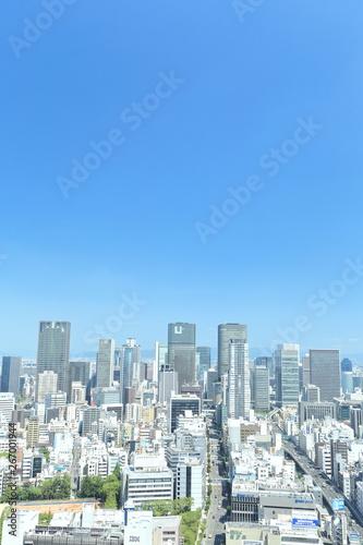 Aluminium Prints Blue 日本・大阪の都市景観 街並み, 都会, 都市, 摩天楼