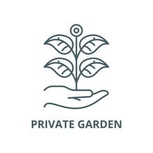 Private Garden Vector Line Icon, Outline Concept, Linear Sign