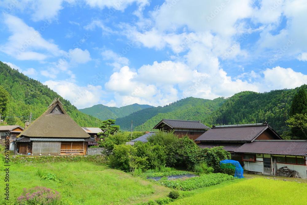 Fototapety, obrazy: 京都・田舎の風景, 美山, 農村, 日本