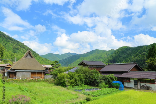 Fototapeta 京都・田舎の風景, 美山, 農村, 日本 obraz