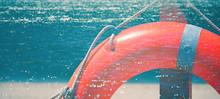 Defocused Image. Orange Lifebu...