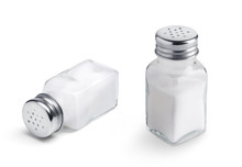 Salt Shaker Set Isolated On Wh...