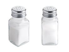 Salt Shaker Set Isolated On Wh...