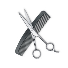 Hair Cutting Shears And Comb I...