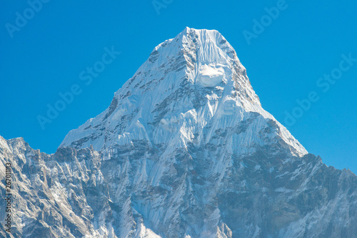 фотография  Scenery view of the main peak (6,812 m) of Mt