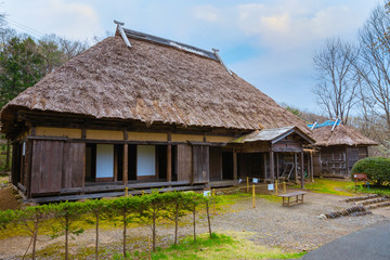 Fototapeta na wymiar Michinoku Folklore Village in Kitakami, Japan
