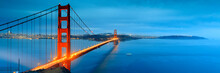 Golden Gate Bridge In San Francisco California Illuminated