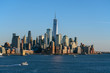 Lower Manhattan which is a apart of New york cityscape river side which can see One world trade center, USA, Taking from New Jersey