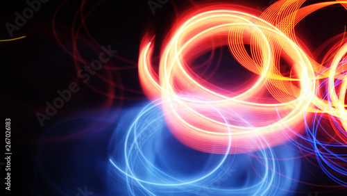 Light abstract at night