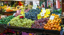 Fresh Seasonal Fruit For Sale At The Famous Adelaide Central Market, Southern Australia