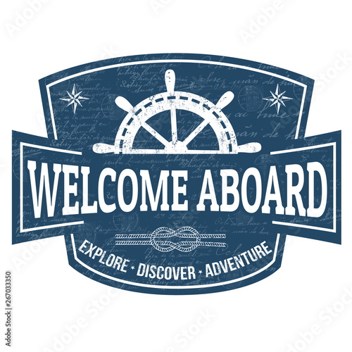 Welcome aboard sign or stamp Canvas Print