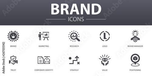 Fotografía  brand simple concept icons set