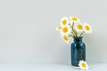 Bouquet Of Daisies In A Glass Vase