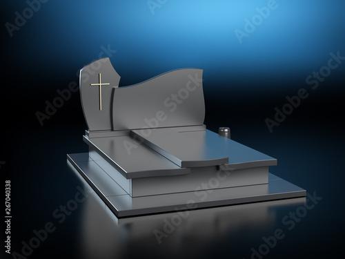 Obraz Tombstone 2 - dark background  - fototapety do salonu