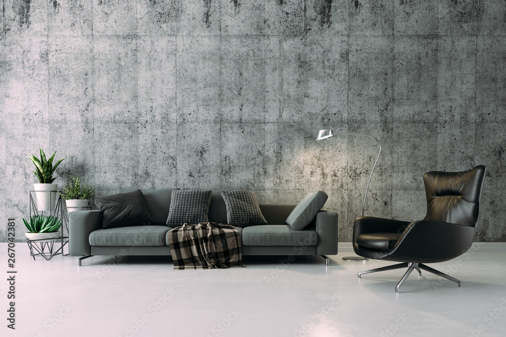 Fototapety, obrazy: 3d beautiful interior render setup