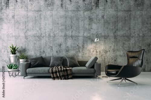 Fotografie, Obraz  3d beautiful interior render setup