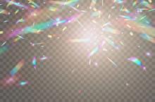 Holographic Falling Confetti I...