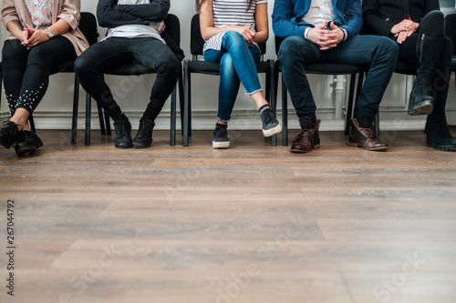 Fotografie, Obraz  Group of a people waiting for a casting or job interview