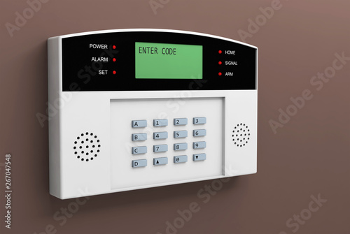 Fotomural  system alarm protection safety box code security