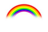 Fototapeta Tęcza - rainbow on blur and light abstract background, rainbow and blur background