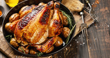 Baked Whole Chicken With Spice...