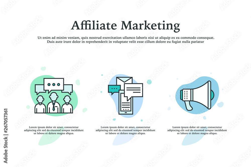 Fototapeta Affiliate Marketing Icon Concept