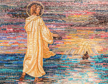 Religious Mosaic Of Jesus Christ