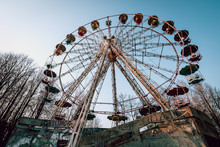 Old Ferris Wheel In Abandoned ...