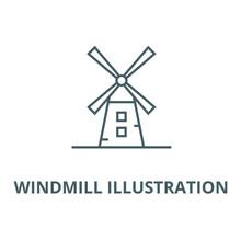 Windmill Illustration Vector L...