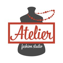 Atelier Fashion Studio Mannequin And Beads Isolated Icon