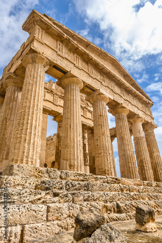Temple of Concordia in the Valley of Temples near Agrigento, Sicily, Italy