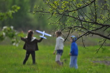 Child, Boy, Happy, Young, Fun, Love, Grass, Walk, Running, Outdoors, Field, Together, Outside, Children, Airplane, Background, Blue, Boy, Branch, Child, Concept, Field, Foam, Fun, Game, Green, Happine