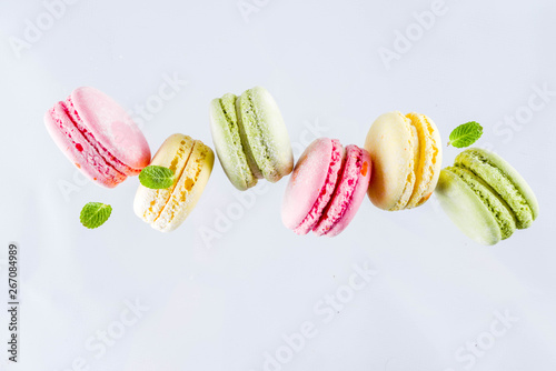 Foto op Canvas Macarons Bright colorful macarons