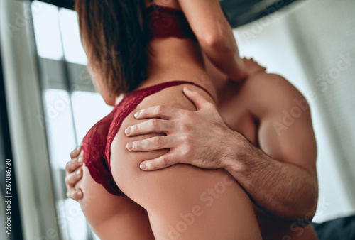 Passionate couple having sex Canvas-taulu
