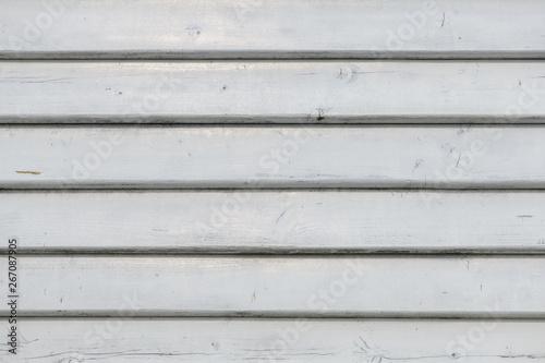Obraz na plátně White vintage wooden boards in overlap cladding pattern