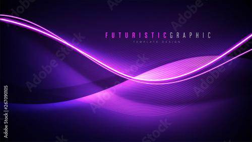 An abstract background template in futuristic style Tapéta, Fotótapéta