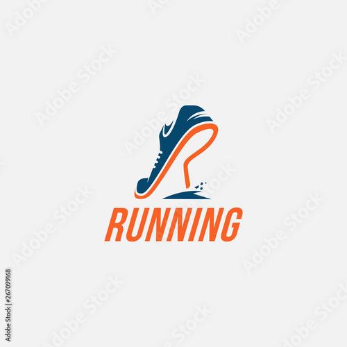 Creative R for Run / Running logo inspiration Canvas Print