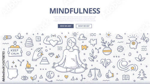 Photo Mindfulness Doodle Concept