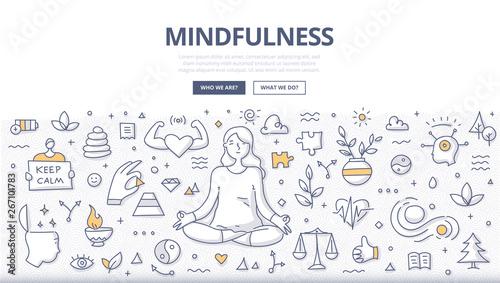Fotografiet Mindfulness Doodle Concept