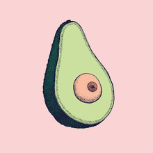 Avocado With A Boob As Seed