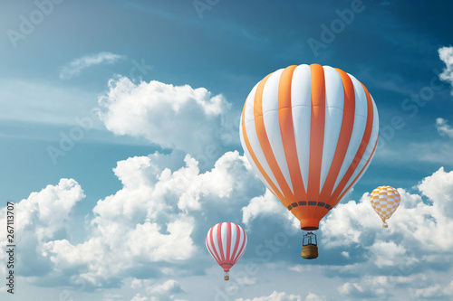 Multicolored, large balloons against the blue sky Fototapet