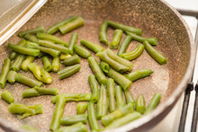 Fry The Green Beans. Cooking H...