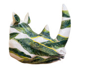 Ceramic Rhino's Sculpture. Mod...
