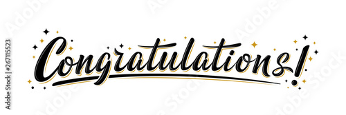 "Fotografiet ""Congratulations!"" bulk lettering greeting sign"
