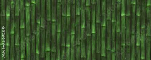 3d illustration green bamboo background #267123599