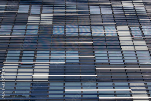 Fototapety, obrazy: modern office building blue and grey facade
