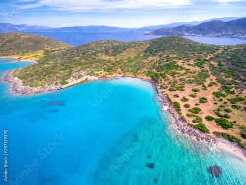 Obraz na plátně  Amazing beach of Kolokitha near Elounda, Crete, Greece.
