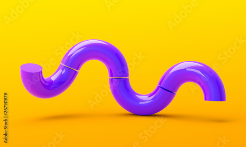 Abstract 3d render, minimalistic background, modern graphic design - 267141979